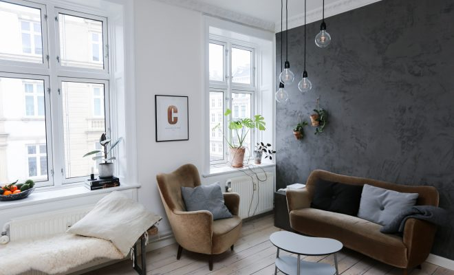 klassiek interieur met verlichting