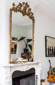klassieke interieur ideen gouden spiegel