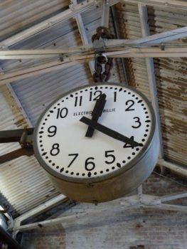 vintage industriële klok